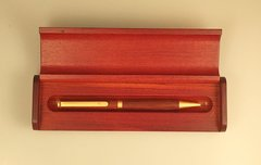 Slimline Ballpoint Pen with Satin Gold Hardware with Rosewood Case (25)