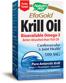 Nature 39 s way efagold krill oil 500 mg 60 softgels for Is krill oil better than fish oil