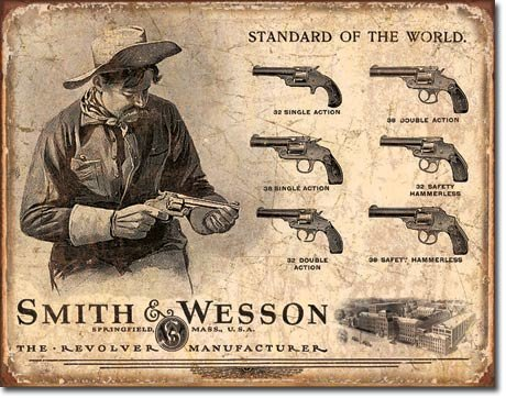 Smith & Wesson Metal Sign