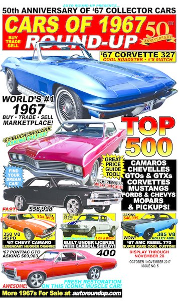 Cars of 1967 Round-Up - 50th Anniversary of '67 Collector Cars