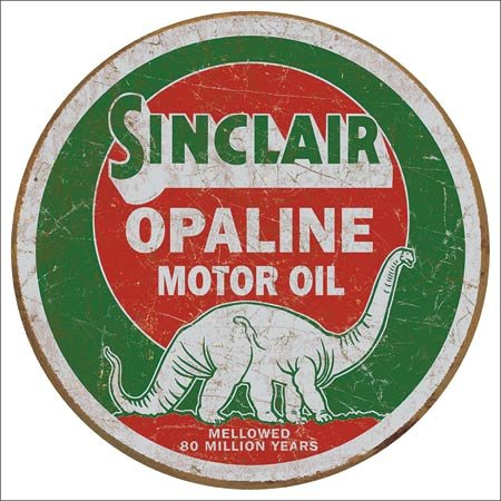 Sinclair Motor Oil Vintage Metal Sign
