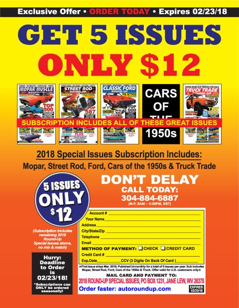 2018 Special Issue Subscription