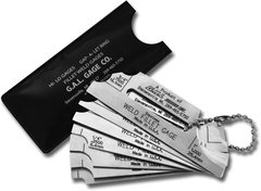 7-Piece Fillet Weld Measuring Set, Markings on Both Sides, Inch or Metric