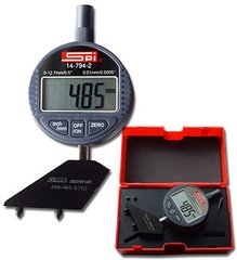Digital Pit Depth Gauge, Reads both Inch/Metric (GG-13DPR),