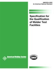 B5.4:2005 Specification for the Qualification of Welder Test Facilities