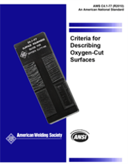 C4.1:1977(R2010) Set, Criteria for Describing Oxygen-Cut Surface, and Oxygen Cutting Surface Roughness Gauge