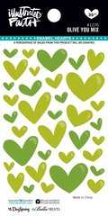 Bella Blvd Illustrated Faith Enamel Hearts - Olive You Mix