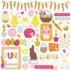 PhotoPlay Hoppy Easter 12 x 12 Element Stickers