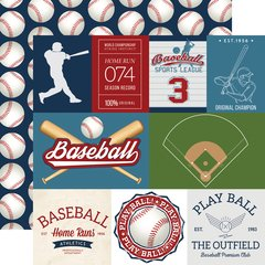 Echo Park Baseball Collection 12 x 12 Double Sided Cardstock Baseball Cards