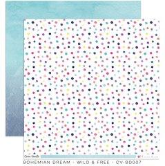 Cocoa Vanilla Studio Bohemian Dream WILD and FREE 12 x 12 Cardstock