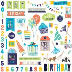 PHOTOPLAY CAKE PARTY ANIMAL 12 X 12 Element Stickers