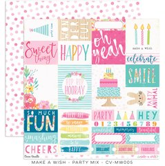 Cocoa Vanilla Make A Wish 12 x 12 Cardstock Party Mix