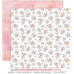 Cocoa Vanilla Studio More Than Words DARLING BUDS 12 x 12 Cardstock