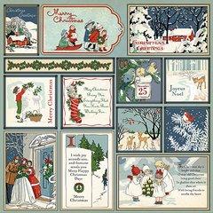 Christmas Wonderland 12 x 12 Journaling Cards Paper