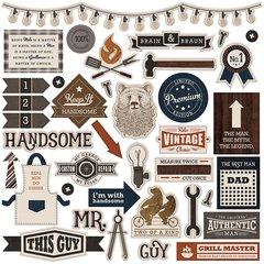Photoplay This Guy 12 x 12 Element Sticker Sheet