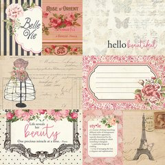 Photoplay Julie Nutting Belle Vie 12 x 12 Double sided Cardstock 3 x 4 & 4 x 6 Cards