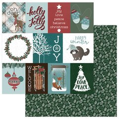 PhotoPlay Winter Meadow 12 x 12 Cardstock Winter Wishes