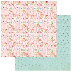 Julie Nutting Nautical Bliss 12 x 12 Double Sided Cardstock Pink Dolls