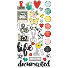 Simple Stories Life in Color 6 x 12 Chipboard Stickers