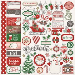 Dear Santa 12 x 12 Elements Sticker Sheets