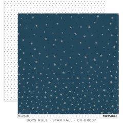 PRE ORDER Cocoa Vanilla Studio Boys Rule Star Fall 12 x 12 Cardstock