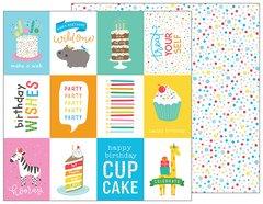 Pebbles Happy Hooray 12 x 12 Cardstock Birthday Wishes 732336