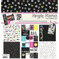 Simple Stories 12 x 12 Collection Kit Simple Set Happy New Year