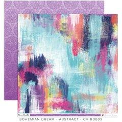 Cocoa Vanilla Studio Bohemian Dream ABSTRACT 12 x 12 Cardstock