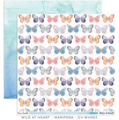 Cocoa Vanilla Studio Wild at Heart 12 x 12 Card Stock Mariposa