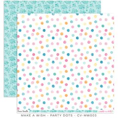 Cocoa Vanilla Make A Wish 12 x 12 Cardstock Party Dots