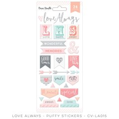 Cocoa Vanilla Love Always Puffy Stickers