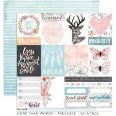 PRE ORDER Cocoa Vanilla Studio More Than Words TREASURE 12 x 12 Cardstock