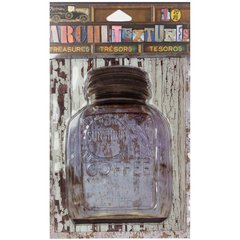 7 Gypsies Architextures Treasures Adhesive Embellishments Sunshine Coffee Jar