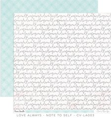 Cocoa Vanilla Love Always 12 x 12 Cardstock Note To Self