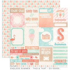 Cocoa Vanilla Endless Summer 12 x 12 Cardstock This & That