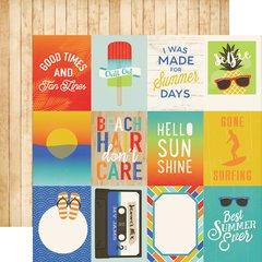 Carta Bella Beach Day 3 x 4 Journaling Card 12 x 12 Paper