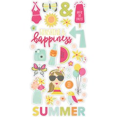 Simple Stories Sunshine & Happiness 6 x 12 Chipboard