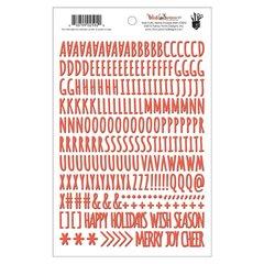Wish Season Red Puffy Alpha Stickers