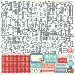 Photoplay Julie Nutting Paper Dolls 12 x 12 Alpha Sticker Sheet