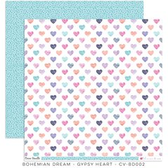 Cocoa Vanilla Studio Bohemian Dream GYPSY HEART 12 x 12 Cardstock