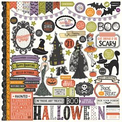 Photoplay Julie Nutting Bootiful 12 x 12 Element Sticker Sheet
