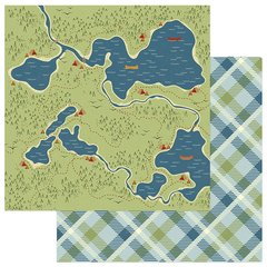 Photo Play Paper Lakeside Collection 12 x 12 Double Sided Paper - Hidden Lakes