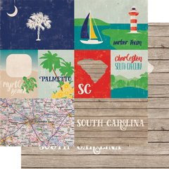 Echo Park Stateside Collection SOUTH CAROLINA  12 x 12 Paper