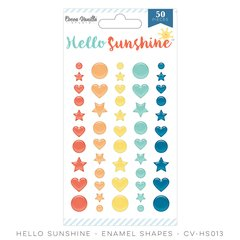 Cocoa Vanilla Hello Sunshine Enamel Shapes