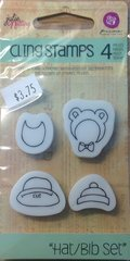 "Prima Julie Nutting Cling Stamps ""Hat/Bib Set"""