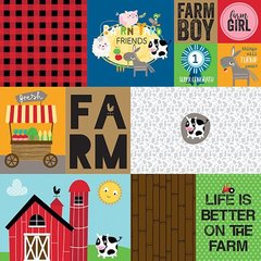 Bella Blvd  Barnyard  12 x 12 Double Sided Paper Daily Details