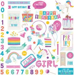 PHOTOPLAY CAKE RAINBOW SPRINKLES 12 X 12 Element Stickers