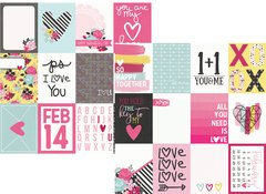 Simple Stories Love & Adore 12 x 12 Cardstock 3 x 4 Journaling Cards