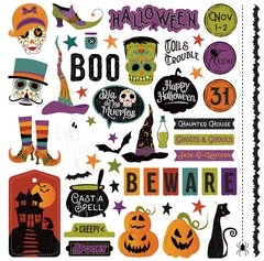 PhotoPlay Matilda & Godfrey Halloween 12 x 12 Element Stickers