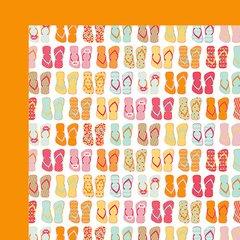Fancy Pants Summer Sun 12 x 12 Double Sided Cardstock Flip Flops